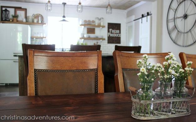 Nailhead trim kitchen table chairs