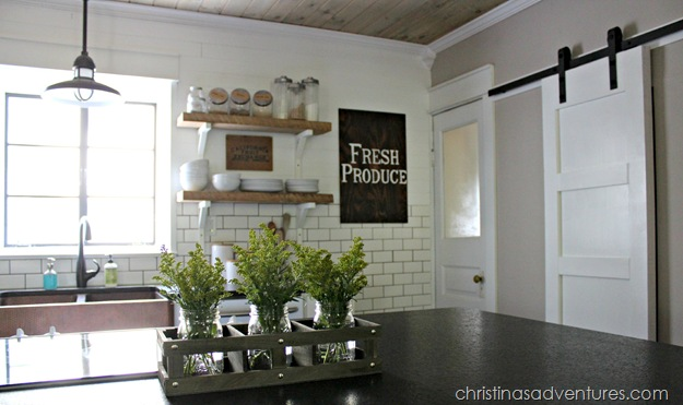 DIY Farmhouse Kitchen Before & After