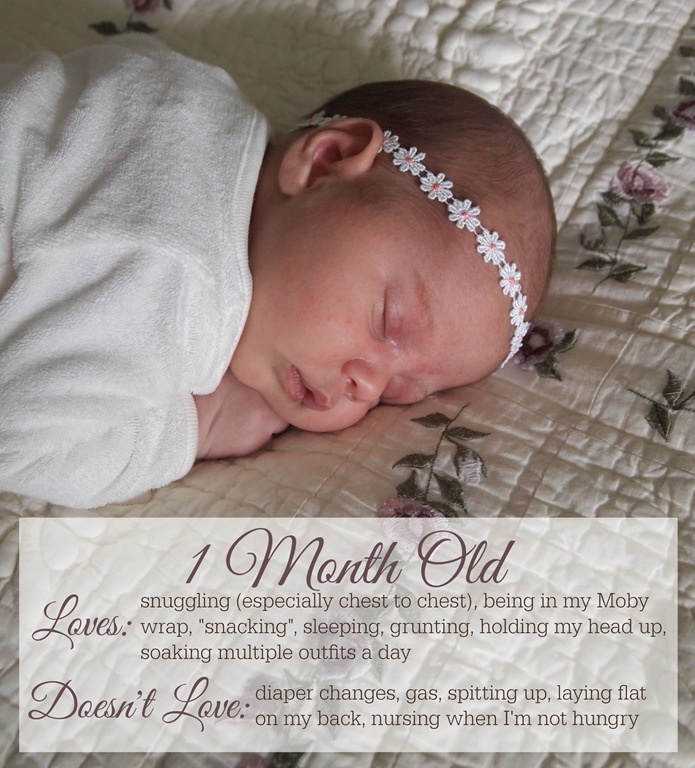 Nora Faith: 1 month old
