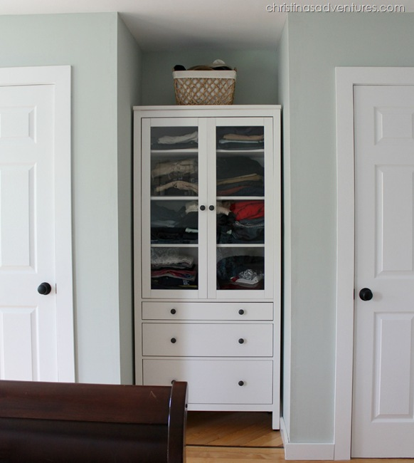 IKEA unit between two closets