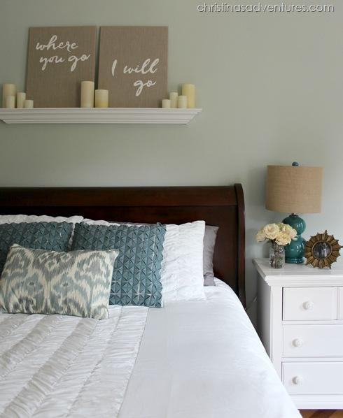 White Bedding Sea Salt Wall Color