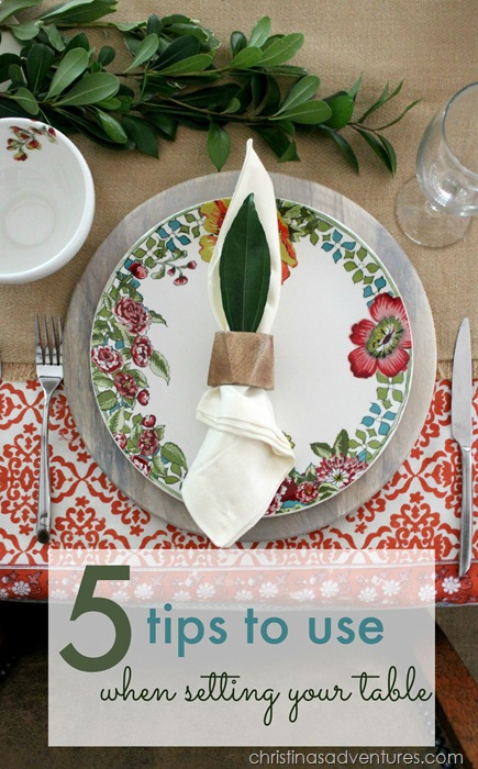 5 tips to use when setting your table