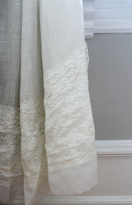 Lace extended curtains