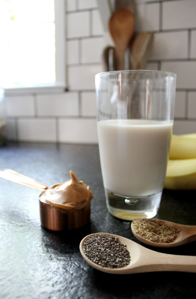 Banana Chia Peanut Butter Smoothie