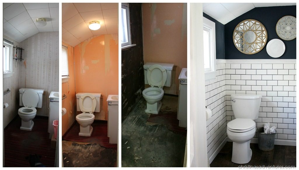 Remodeling Small Bathroom Before And After