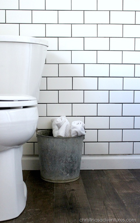 small bathroom makeover christinas adventures small white subway tile backsplash home design ideas