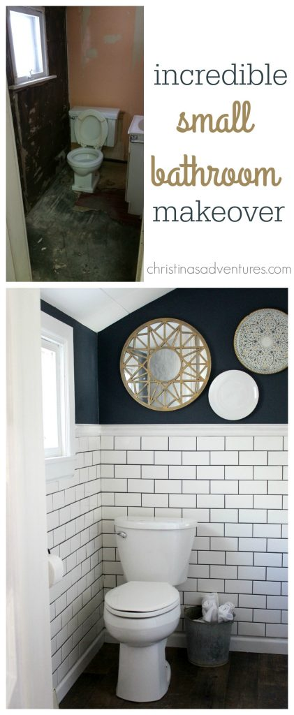 incredible small bathroom makeover