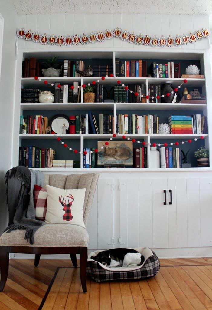 Christmas Built In Bookshelves Christinas Adventures