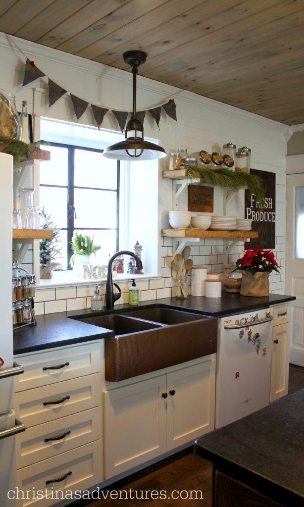 Christmas Farmhouse Kitchen Christinas Adventures