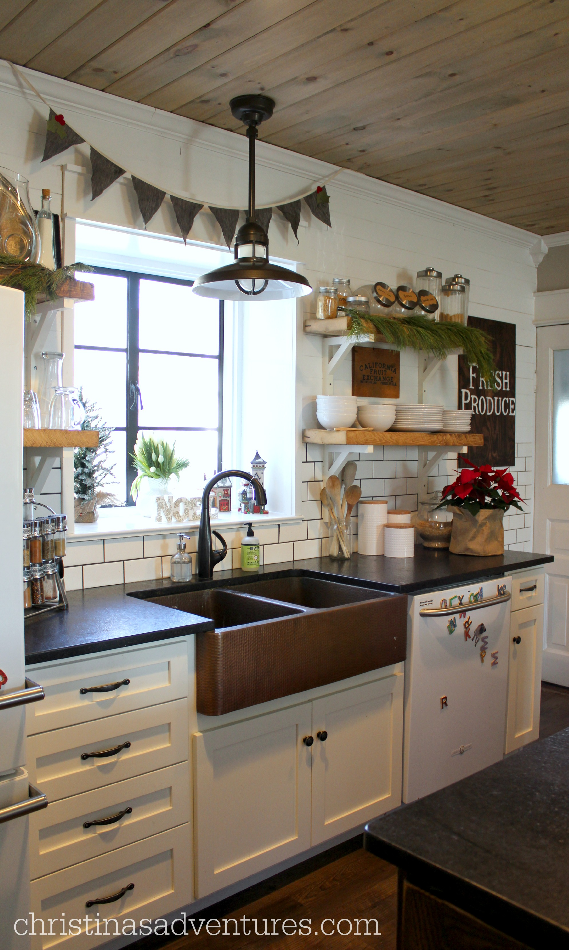 Adventures In Decorating Our 2015 Fall Kitchen: 1902 Victorian Christmas House Tour