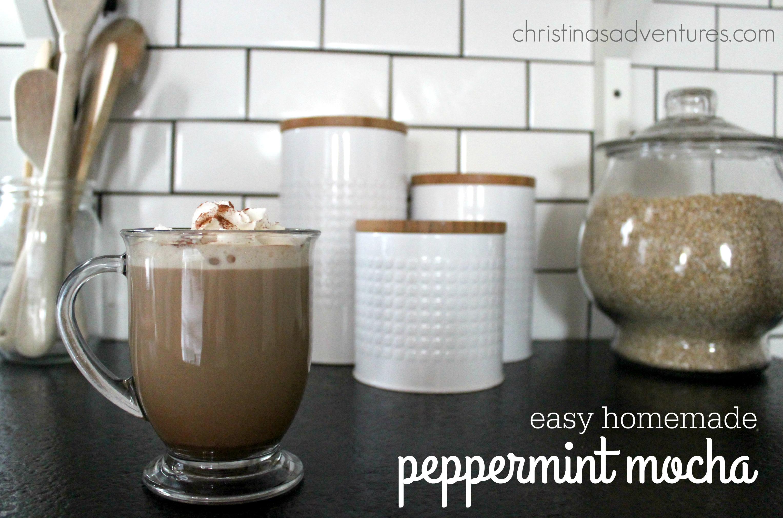 Easy Homemade Peppermint Mocha