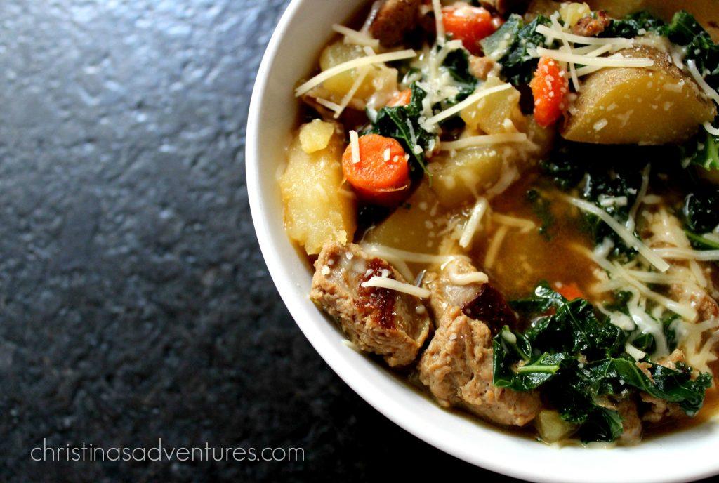 Sausage Kale Soup Recipe Christinas Adventures
