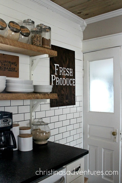 Farmhouse kitchen wood sign