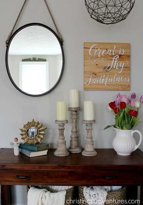 side table styling