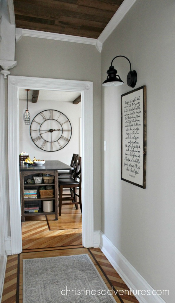 Large Wall Clock In Foyer : Victorian farmhouse entryway and hallway christinas