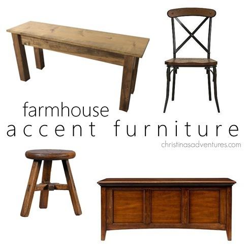 farmhouse accent furniture