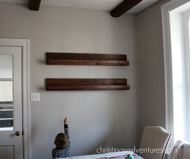 DIY shelves kitchen