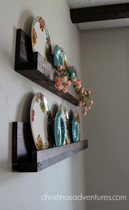 DIY wood shelf ledge