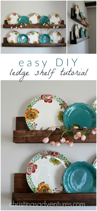 Easy DIY Ledge Shelf Tutorial