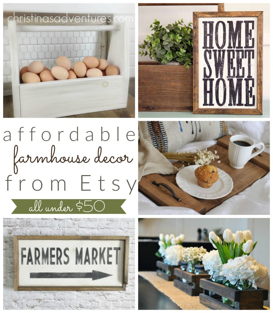 Affordable Farmhouse Decor on Etsy: all under $50