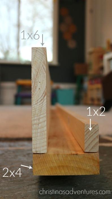 Simple DIY ledge shelf tutorial - Christinas Adventures