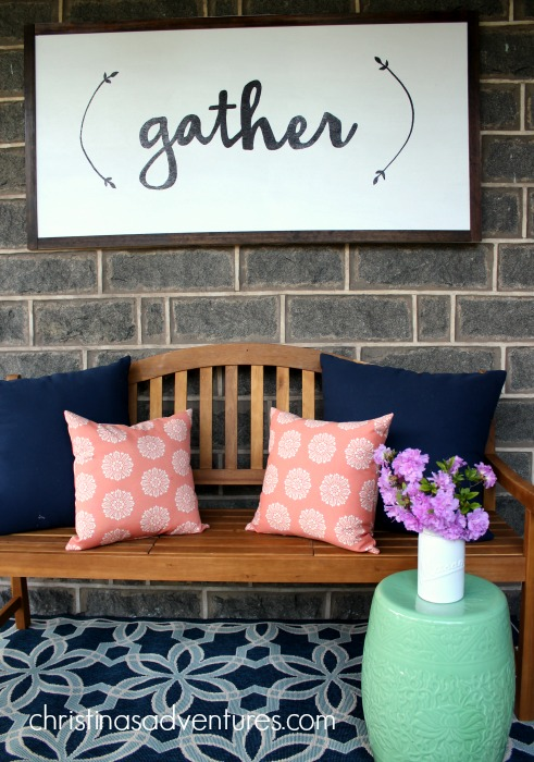 Gather sign DIY tutorial