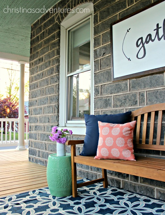 great front porch decorating ideas an oversized wood sign bench and outdoor area - Front Porch Decorating Ideas