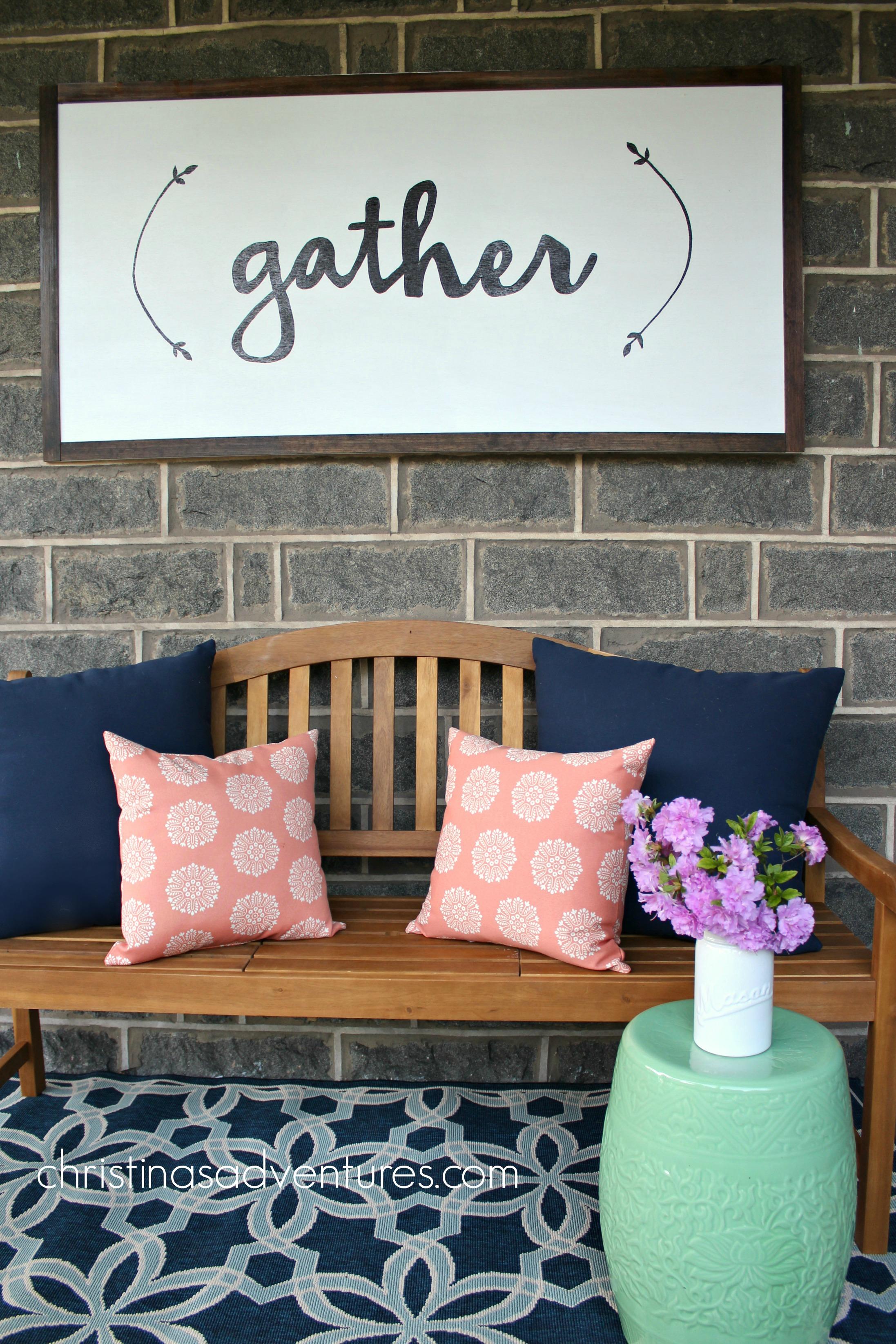 front porch decorating - christinas adventures