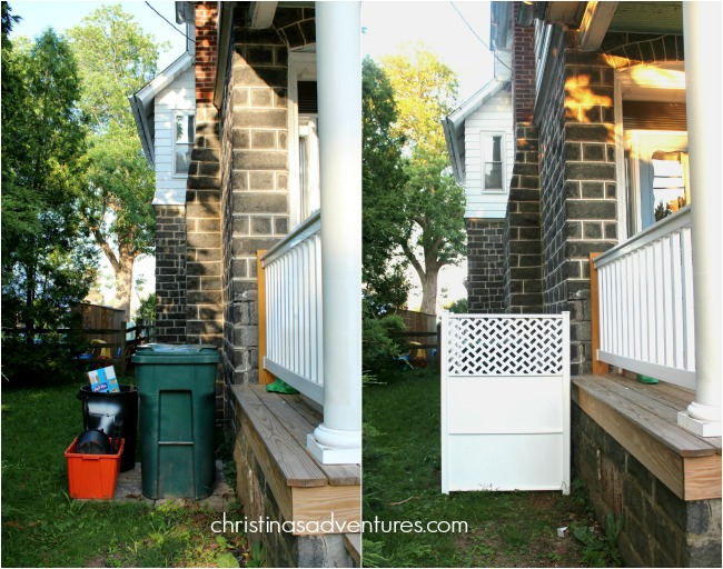 How to hide your trash can (30 minute project)