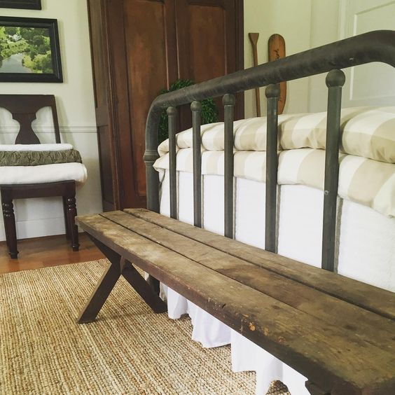bench at the end of the bed