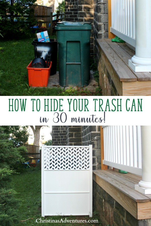 How To Hide Garbage Cans Outside Ways Your Trash Home And Gardening Ideas