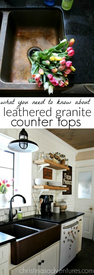 leathered granite counter tops