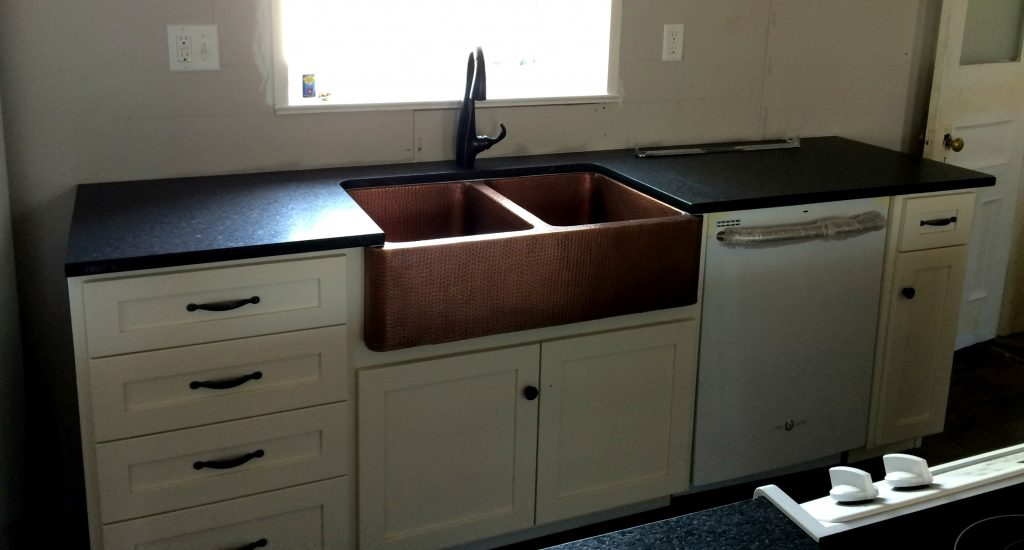 leathered granite countertops installed