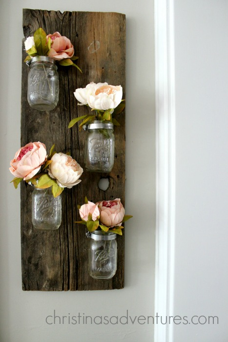 mason jar flower holder diy