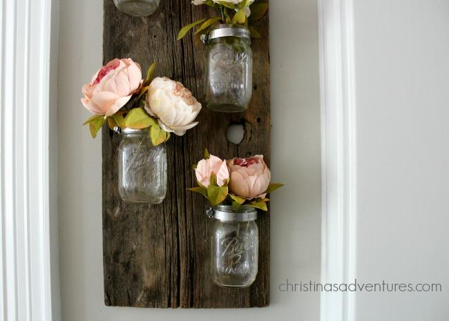 DIY wood mason jar holder