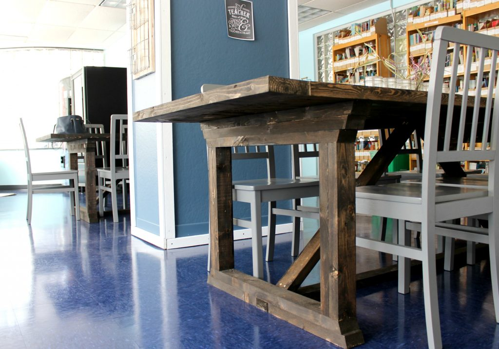faculty room farmhouse tables