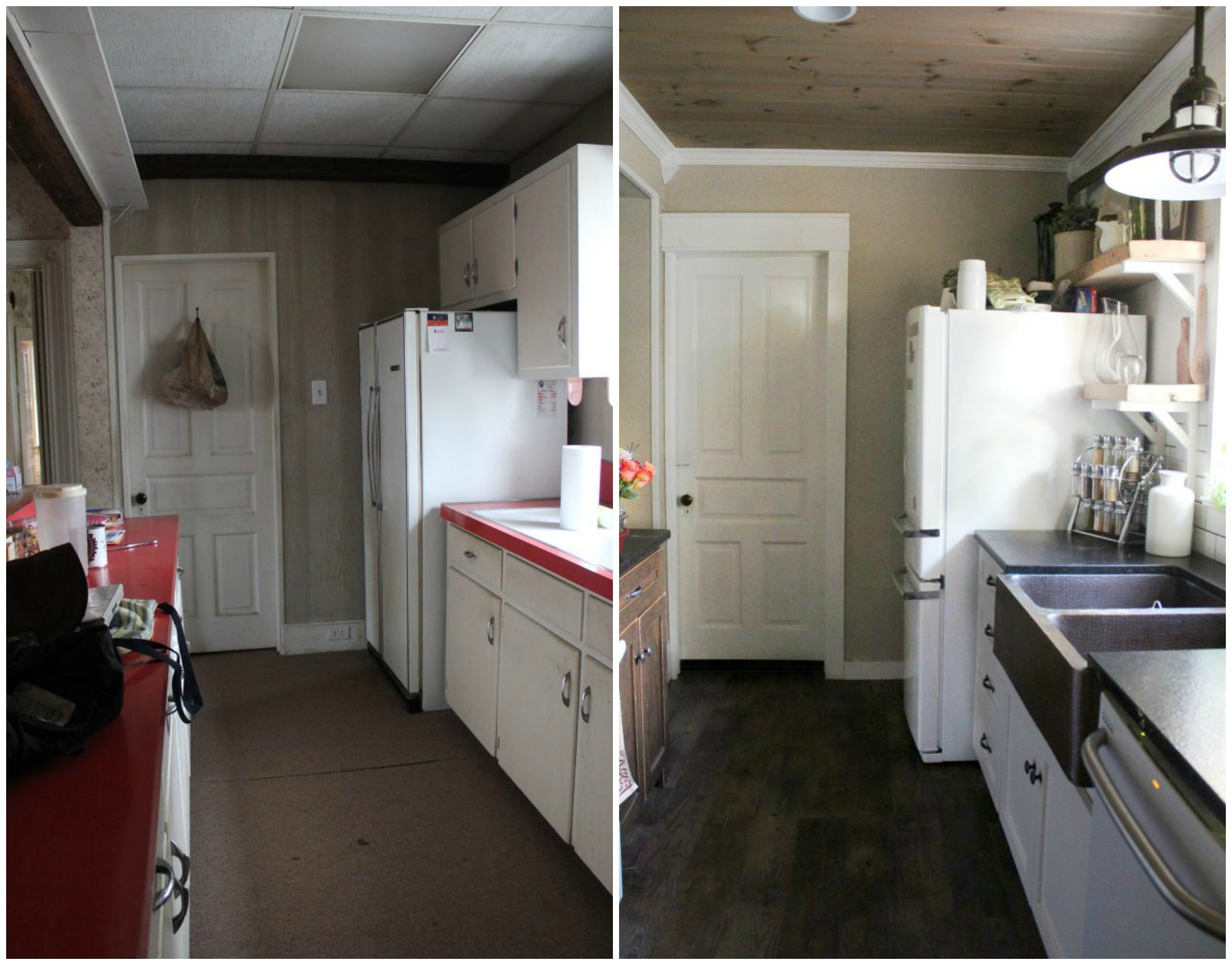 Luxury Vinyl Tile Flooring Before And After Kitchen