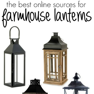 The best places to find farmhouse lanterns online