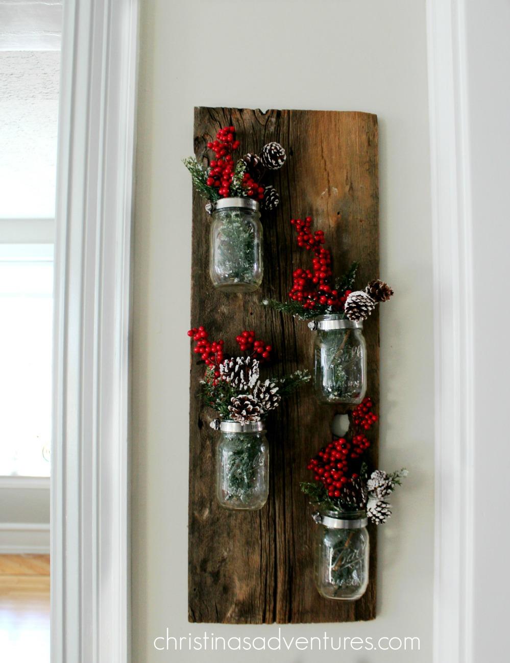Christmas mason jar decoration