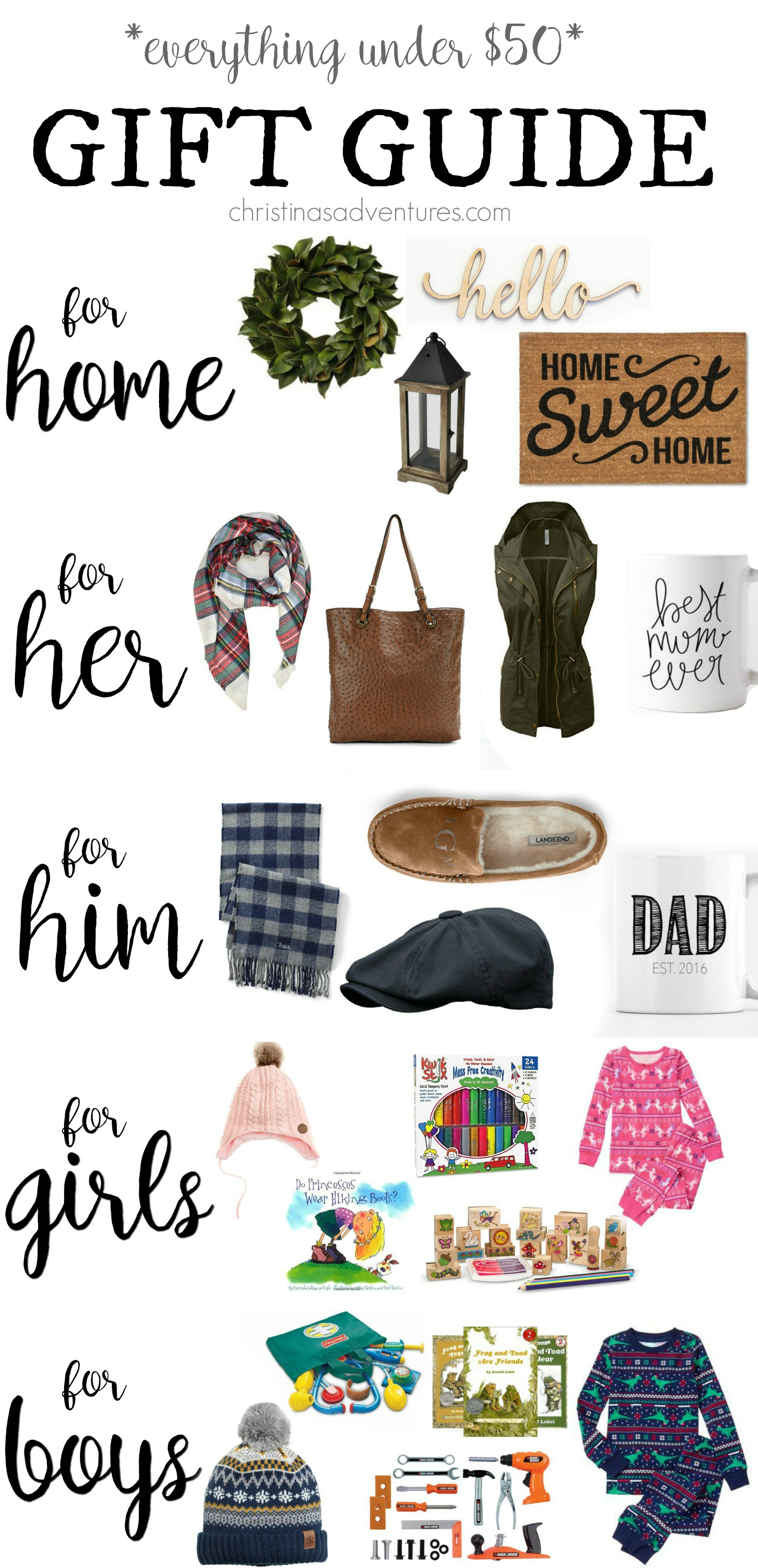 Christmas Gift Guide For Her Him Kids And Home