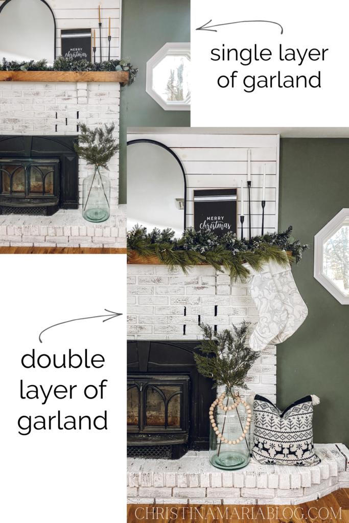 how to hang garland layered