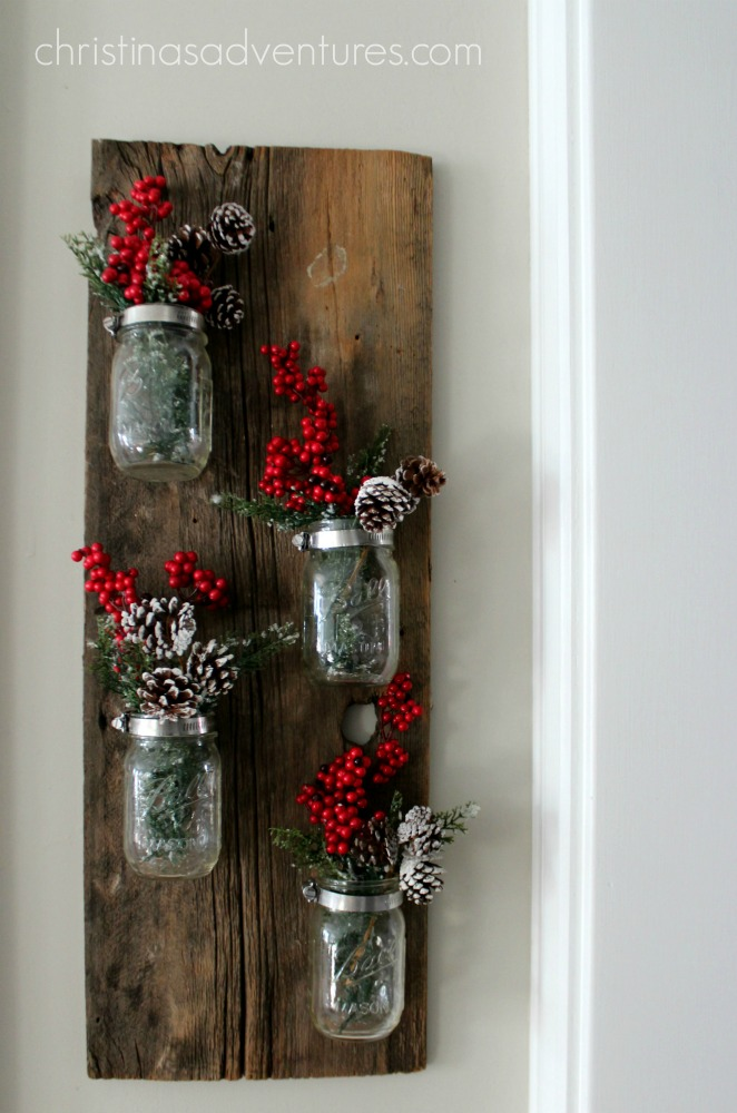 Christmas mason jar decoration christinas adventures for Christmas home decor 2016