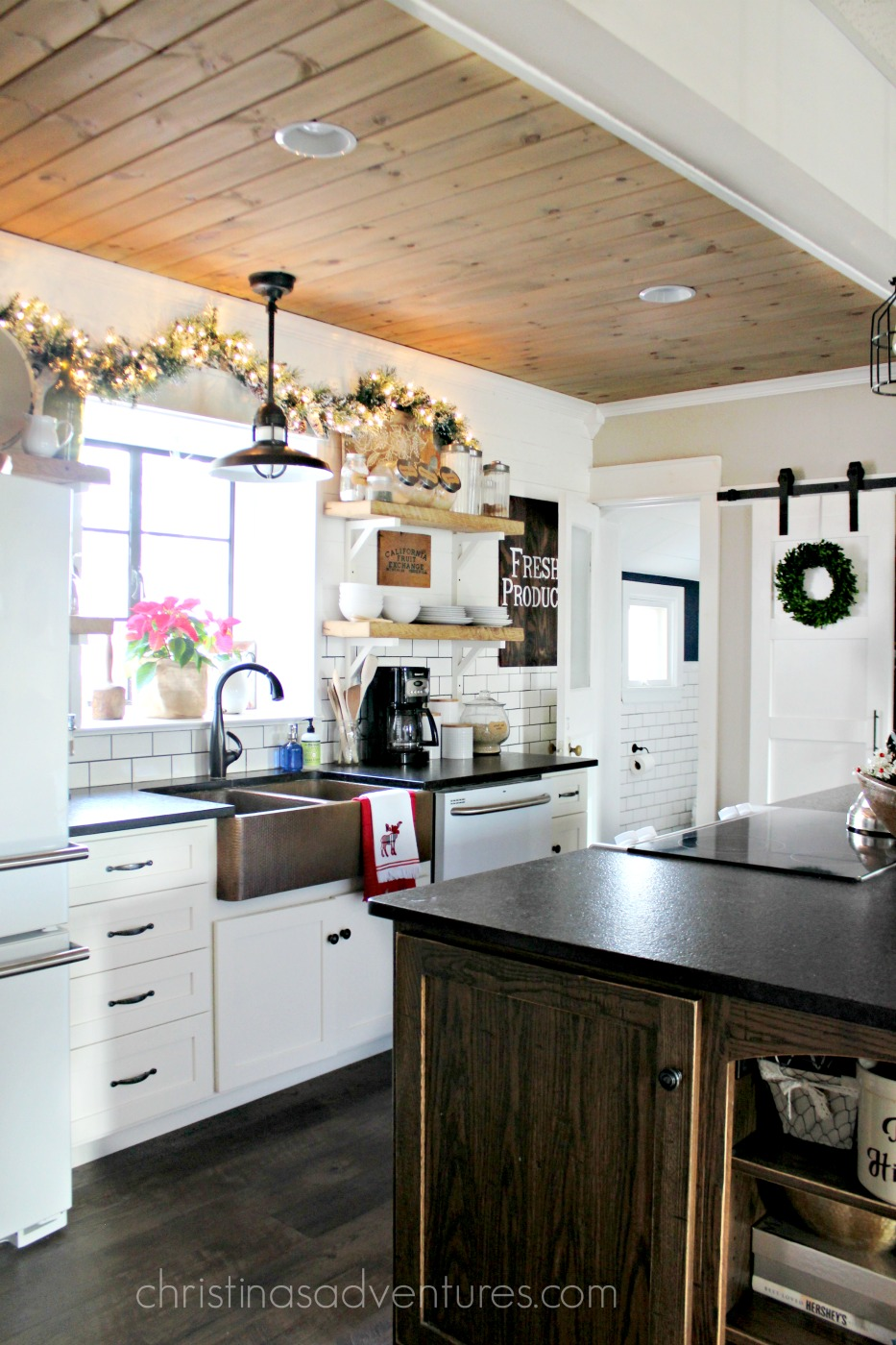 Farm House Kitchen Farmhouse Christmas Kitchen Christinas Adventures