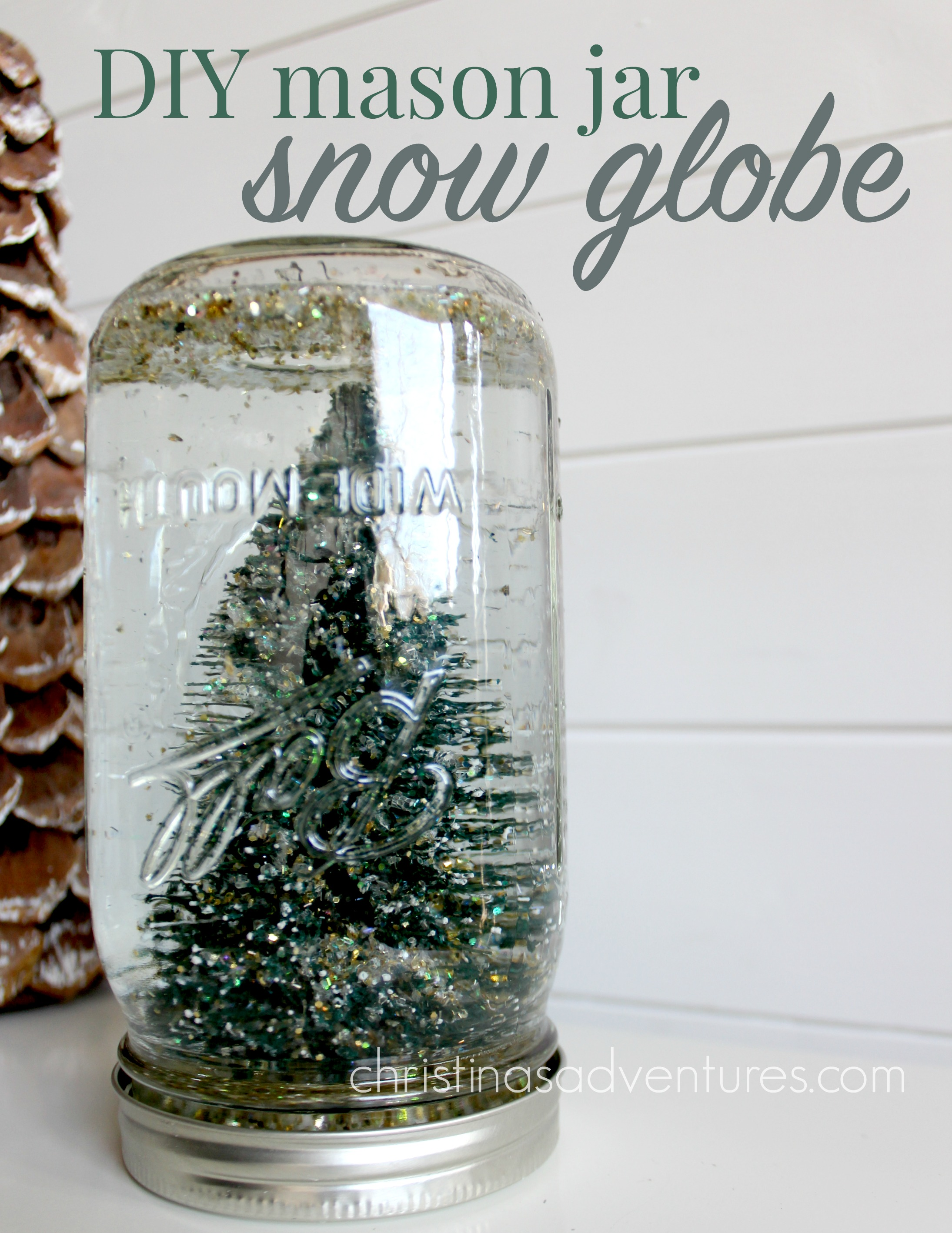 simple diy snow globe christinas adventures