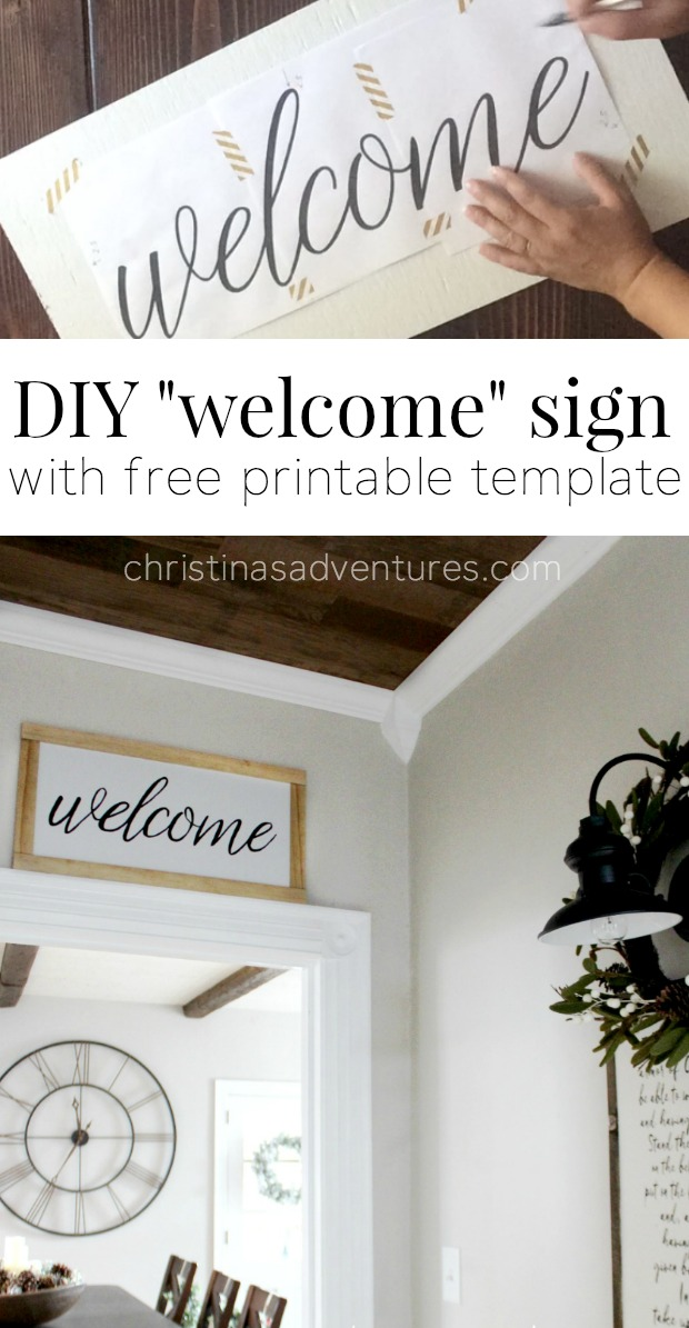 Unusual image inside welcome signs template