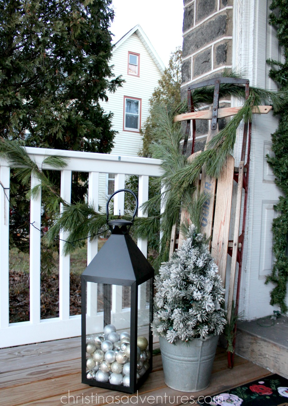 good idea for front porch christmas decorations rs
