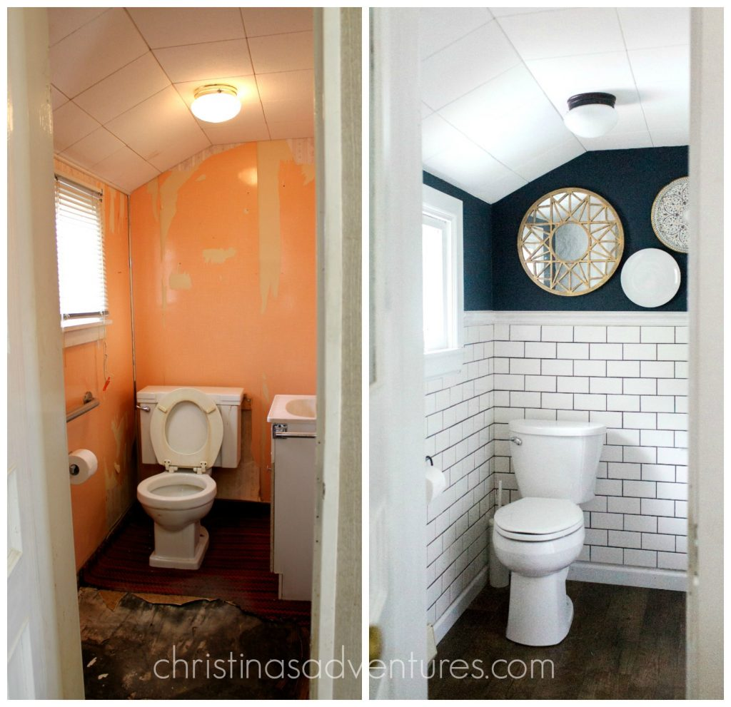 fixer upper small bathroom makeover