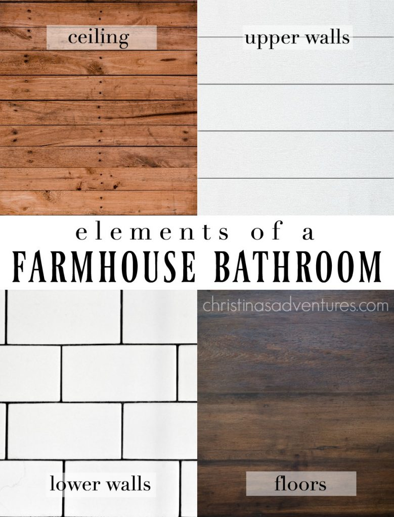 Farmhouse Bathroom Design - elements of a farmhouse bathroom