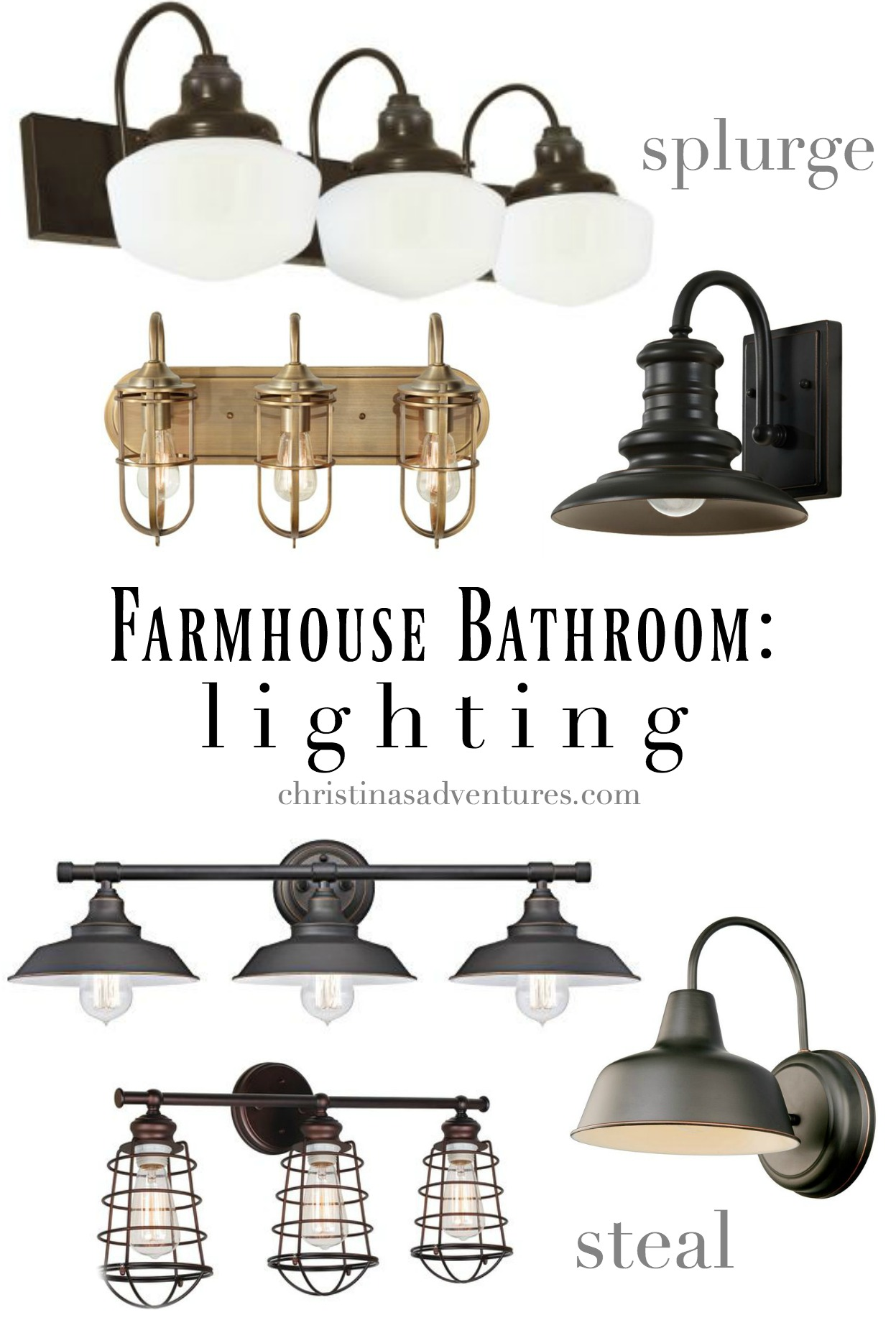 farmhouse bathroom lighting farmhouse bathroom design christinas adventures 12819