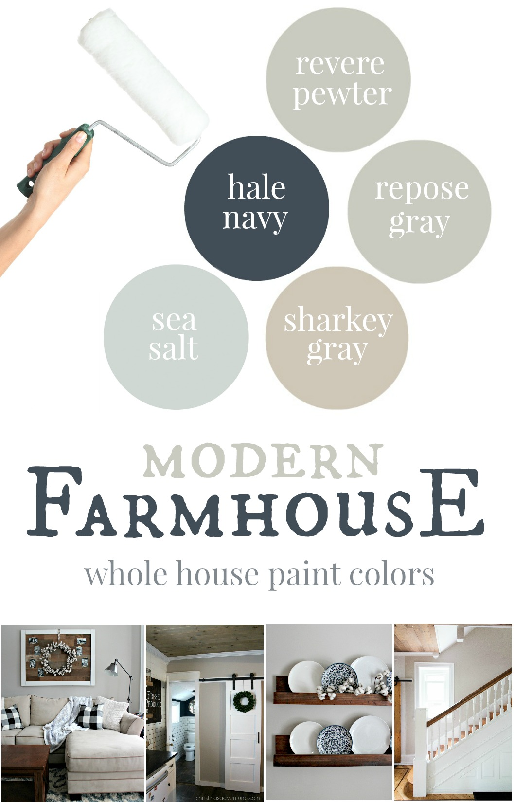 Our house Modern Farmhouse Paint Colors Christinas Adventures